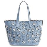 Mellow World Paloma Perforated Floral Tote, Brown