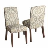 HomePop Curved Back Dining Chair 2-piece Set, Natural