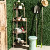 Safavieh Indoor / Outdoor 4-Shelf Corner Bookshelf, Orange
