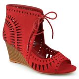 Journee Collection Zola Women's Wedge Sandals, Girl's, Size: 5.5, Red