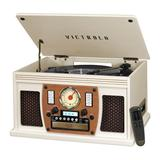 Victrola Navigator 8-in-1 Classic Bluetooth Record Player with USB Encoding & 3-speed Turntable, White
