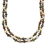 """""""Dyed Freshwater Cultured Pearl Double Strand Necklace, Women's, Size: 18"""""""", Multicolor"""""""