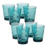 Certified International 8 pc. Double Old-Fashioned Glass Set, Turquoise/Blue