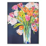 New View Flower Bouquet Framed Canvas Wall Art, Multicolor