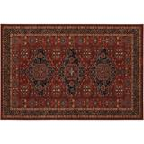 Couristan Old World Classics Kashkai Framed Floral Wool Rug, Red, 4.5X6.5 Ft