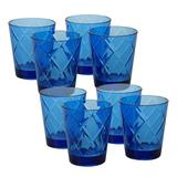 Certified International 8 pc. Double Old-Fashioned Glass Set, Blue