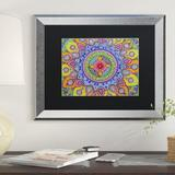 East Urban Home 'Mardi Gras Mandala' Framed Graphic ArtCanvas & Fabric in Brown, Size 14.5 H x 17.5 W x 1.25 D in | Wayfair