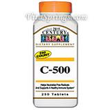 Vitamin C 500 mg 250 Tablets, 21st Century Health Care