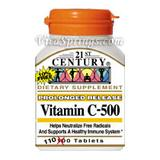 Vitamin C 500 mg Prolonged Release 110 Tablets, 21st Century Health Care