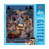 Holy Night 500-pc. Holiday Glitter Puzzle by MasterpiecesPuzzles, Multicolor