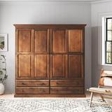 Loon Peak® Horton Armoire Wood in Brown, Size 72.0 H x 72.0 W x 21.0 D in   Wayfair 5639D565CA16443288B3B5A794242AE2