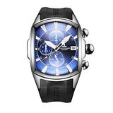 Reef Tiger Luxury Top Brand Sport Watches Steel Analog Watches with Date Chronograph Mens Watches RGA3069-T (RGA3069-T-YLB)