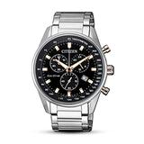 Citizen Men's AT2396-86E Silver Stainless-Steel Japanese Chronograph Fashion Watch