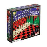 Classic Checkers, Chess & Backgammon Game Set by Endless Games, Multicolor