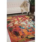 """Nourison Celestial Modern Bohemian Stained Glass Multicolored Area Rug 3 Feet 11 Inches by 5 Feet 11 Inches, 3'11"""" x 5'11"""""""