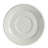 """Tuxton YPE-054 5 1/2"""" Round Sonoma Saucer - Ceramic, Porcelain White"""
