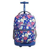 J World New York Sunrise Rolling Backpack Backpack, PETALS