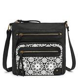 Scarleton Small Lace Crossbody Bag for Women, Purses for Women, Shoulder Bags for Women, Handbag for Women, H191201 - Black