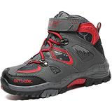 Boys Girls Snow Boots Winter Boots Waterproof Slip Resistant Cold Weather Shoes Kids Outdoor Climbing Cotton Sneaker Warm Snow Shoes for Boys Hiking Boots red Big Kid Size 4.5