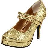 Ellie Shoes Women's 421-Jane-G Maryjane Pump,Gold Glitter,8 M US