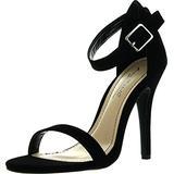 Anne Michelle Womens Enzo-01N Pumps Shoes,Black Nubuck,8.5
