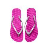 Bumpers Women's Slim Massage Flip Flop (9-10 US / 39-40 EU, Pinky & Grey)