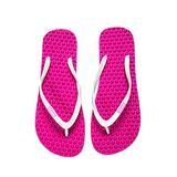 bumpers Women's Slim Massage Flip Flop (7-8 US / 37-38 EU, Pinky & White)