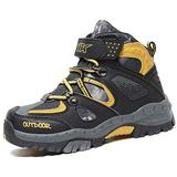Boys Girls Snow Boots Winter Boots Waterproof Slip Resistant Cold Weather Shoes Kids Outdoor Climbing Cotton Sneaker Warm Snow Shoes for Boys Hiking Boots Yellow Big Kid Size 6