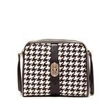 Crossbody Bags for Women Black Leather Purses and Handbags Trendy Cross body It Bag Elegant Crossbody Purse Ladies Handbags Cute Designer Handbag Houndstooth Womens Crossover Mudium Size chic Hand Bag