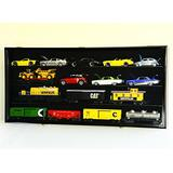 1/24 Scale Die-Cast Model 20 Cars Display Case Cabinet 98% UV Door Holds Up to 20cars, Black