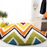 Isabelle & Max™ Advait Chevron Multicolor Area Rug Polypropylene in Black/Blue/Brown, Size 79.0 H x 79.0 W x 1.0 D in   Wayfair