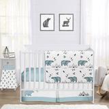 Sweet Jojo Designs Bear Mountain 4 Piece Crib Bedding Set Polyester in Black/Blue/White | Wayfair BearMountain-Crib-4