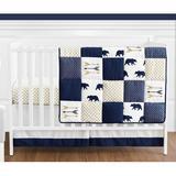 Sweet Jojo Designs Big Bear 4 Piece Crib Bedding Set Polyester/Cotton in Blue/White/Yellow | Wayfair BigBear-Crib-4