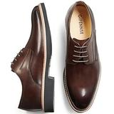 GIFENNSE Men's Casual Shoes Oxford Shoes Mens Dress Shoes,Black Shoes,Brown Shoes(9US/Dark Brown