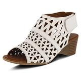 Spring Step Women's Style Dorotha White Euro Size 37 Leather Sandal