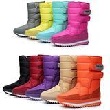 DADAWEN Women's Waterproof Frosty Snow Boot Rose Red US Size 5
