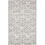 Unique Loom Damask Collection Traditional Floral Ivory Area Rug (3' 3 x 5' 3)