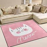 ALAZA Cute Cat Area Rug Rugs for Living Room Bedroom 5'3 x 4'
