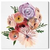 House of Hampton® 'Floral Loving' by Oliver Gal Print on Canvas Canvas & Fabric in Green, Size 24.0 H x 24.0 W x 1.5 D in   Wayfair