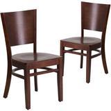 Red Barrel Studio® Harriet Solid Wood Dining Chair in Brown, Size 33.5 H x 17.25 W x 17.25 D in | Wayfair FFA29FF801A646C4840C2F560793C9CE