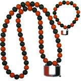 NCAA Siskiyou Sports Womens Miami Hurricanes Fan Bead Necklace and Bracelet Set One Size Team Color
