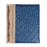 Natural fiber journal, 'Happy Weaver in Blue'