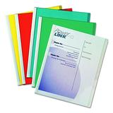 C-Line Report Covers with Binding Bars, Assorted Color Vinyl, White Bars, 8.5 x 11 Inches, 50 per Box (32550)