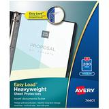 "Avery Heavyweight Non-Glare Sheet Protectors, 8.5"" x 11"", Acid-Free, Archival Safe, Easy Load, 200ct (74401)"