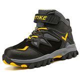 Kids Warm Anti-Ski Snow Boots Girls High-Top Sneakers Winter Boots Outdoor Waterproof Hiking Boots Antiskid Steel Buckle Sole Yellow big kid size 6