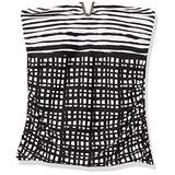Calvin Klein Women's Bandini Swimsuit, Black/White, Large