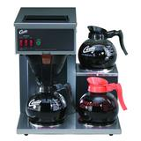 Curtis CAFE3DB10A000 Airpot Pour Over Coffee Brewer w/ (2) Lower & (1) Upper Warmer, 1 9/10 L Capacity, Manual Fill, 120v