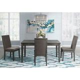 Latitude Run® Vanesa 5 Piece Drop Leaf Dining Set Wood/Upholstered Chairs in Brown/Gray, Size 30.0 H in | Wayfair DECCB30128564A37B18606A3EE7BE6E5