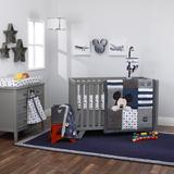 Disney Mickey Mouse Hello World Star Fitted Crib Sheet Cotton in Blue, Size 9.0 H x 52.0 W x 28.0 D in | Wayfair 2859003