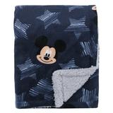 Disney Mickey Mouse Hello World Star Baby Blanket in Blue, Size 40.0 H x 30.0 W x 0.25 D in | Wayfair 2859434